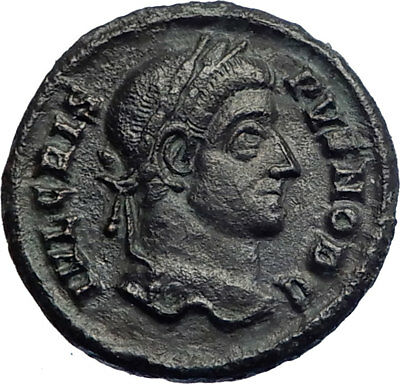 CRISPUS Constantine I the Great son 321AD  Ancient Roiman Coin WREATH  i74231