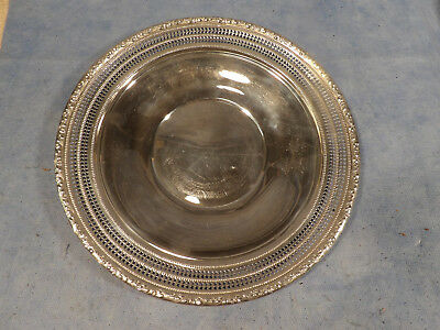 Whiting Sterling Silver 10 Inch Pierced Sandwich Plate