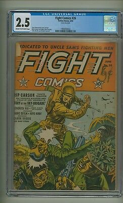 Fight Comics 26 (CGC 2.5) C-O/W pages; Japanese WWII cover; 1943 (c#21837)
