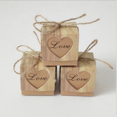 Creative Square Chocolate Candy Gift Boxes Kraft Paper Wedding Party Box Decor F