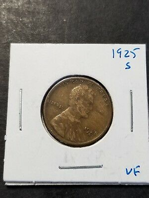 **PENNY BONANZA** 1925 S Lincoln Cent Very Fine US Coin #2