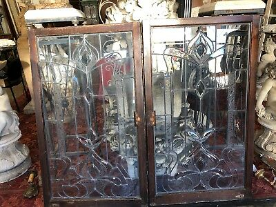Leaded Glass Windows 50 1/2 X 29 3/4 59 1/2 Total Open