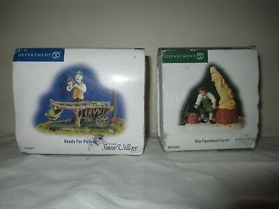 Lot- (2) Department 56 Snow & Heritage Village Pieces in Box! Ready for Picking