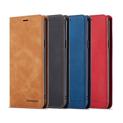 Retro Flip Leather Wallet Case Magnetic Stand Cover for Samsung Note 9 S9