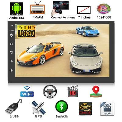 "7"" 2Din Car Radio GPS Navi Android 8.1 Quad Core Car Stereo MP5 Player FM radio"