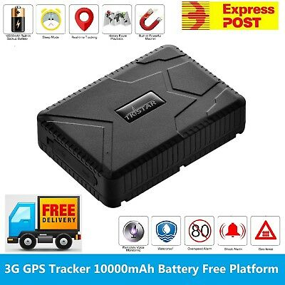 10000mAh 3G GPS Tracker Real Time Tracking Strong Magnet Car Boat Free Platform