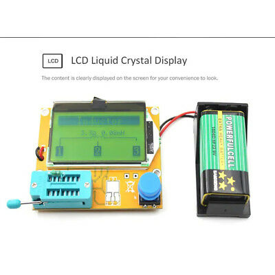 LCR T4 DIY Assembled Multifunction Graphic Transistor Tester Set Free Shipping E