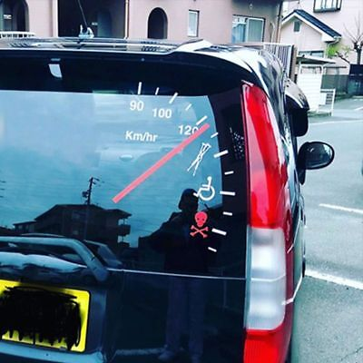 Speedometer Speeding Safe Warning Funny Cluster Car Decal Vinyl Sticker Bumper