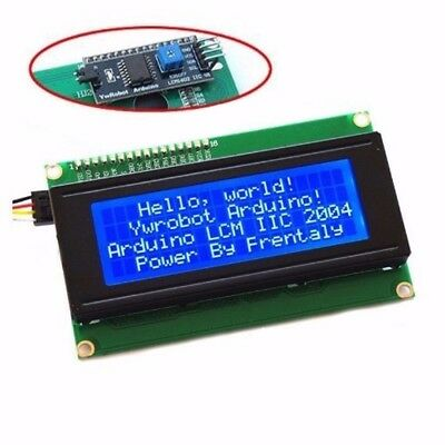 IIC/I2C/TWI Serial LCD 2004 20x4 Display Shield Blue Backlight for Arduino CAO