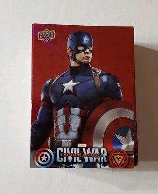 2016 Captain America Civil War Walmart Exclusive 50 Card RED Holofoil Set