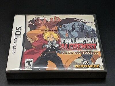 Fullmetal Alchemist Dual Sympathy Case &Instruction Manual only Nintendo DS NRMT
