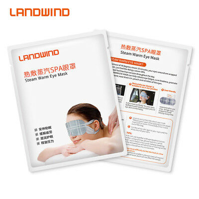 LANDWIND 10pcs Disposable Steam Eye Mask Hot Compress Relaxing Eye Patch