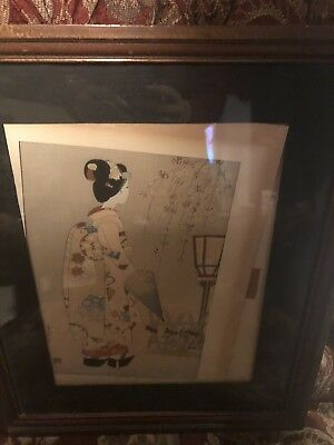 Japanese Woodblock Print Original Size With Frame
