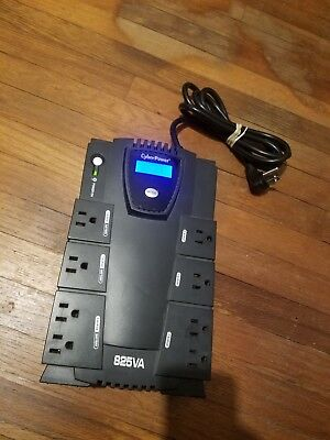 CYBERPOWER 8-OUTLET CP825LCD 825va 450w rj11 rj45 UPS