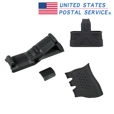 Black Angled Foregrip 4.75'' Hand Guard 7.62 Rubber Cage Rubber Grip For Pistol