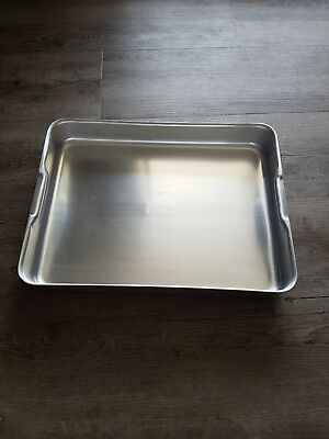 Large Aluminum Roasting Tray Pan 470mm X 355mm Restaurant Cafe commercial