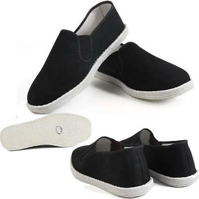 Mens Kung fu Martial Tai Chi Driving Loafer Comfy Silp On Flat Cloth Shoes  Size