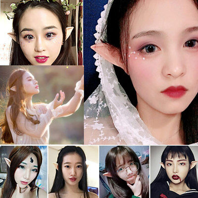 1 Pair Elf Ears False Soft Pointed Angel Fairy Costume Gift For Halloween Party