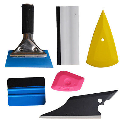 sale 6pc Rubber Squeegee Car Wrap Scraper Glass Window Tint Wrapping Film Tool