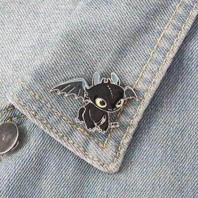 New Cartoon Toothless How to Train Your Dragon Pins Badges Brooches Cute Jewelry
