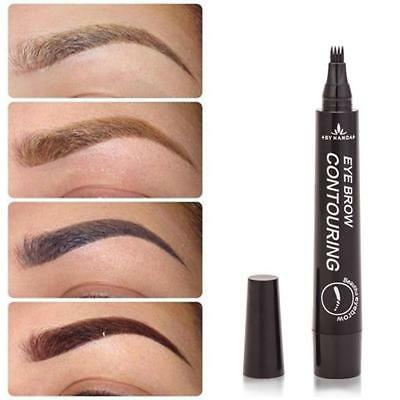 4Colors Eyebrow Tat Pen Waterproof Fork Tip Patented Microblading Ink Sketchs