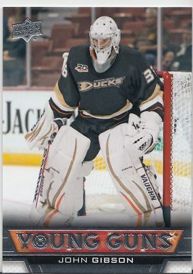 2013-14 Upper Deck YOUNG GUNS John GIBSON ROOKIE Series 2 UD YG #486 RC