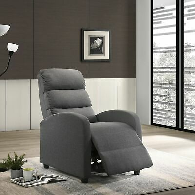 Luxury Recliner Chair Armchair Sofa Couch Lounge in Fabric or Leather
