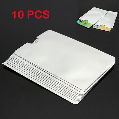 Anti Theft Credit Card Protector RFID Blocking Aluminum Safety Sleeve Shield 10x