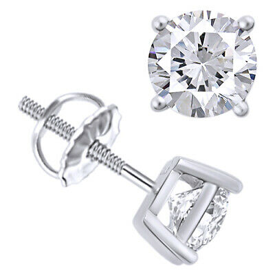 Mother's Day 0.75 Cttw Natural Diamond Studs Available In 14K White Gold
