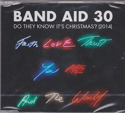Band Aid 30 - Do They Know It's Christmas 4 Track CD Single 2014 P/S New Sealed