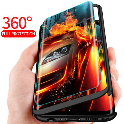 For Xiaomi Mi 8 Lite A2 A1 Poco F1 360° Full Protect Case Cover + Tempered Glass