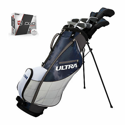 Wilson Ultra Mens 13 Piece Right Handed Complete Golf Club Set with Bag & Balls