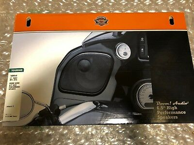 "Harley-Davidson BOOM! Audio 6.5"" High Perform Speakers #76000548 Retail $229  C"