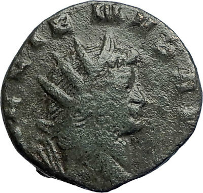 GALLIENUS 267AD Rome Authentic Genuine Ancient Roman Coin Fides Trust  i74235