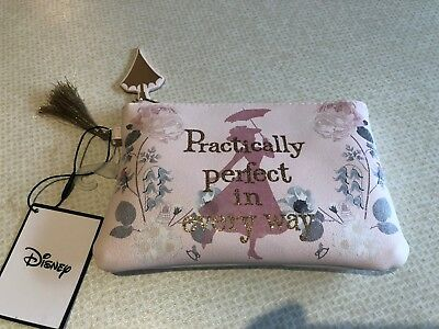 Disney Mary Poppins Make Up Bag/purse.brand New.practically Perfect In Every Way