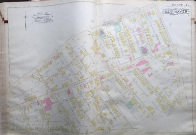 1888 The Hill New Haven Ct John Daniels School Hallack Ave Playground Atlas Map