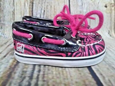 best service 19fb4 b2ec8 Sperry Top Sider Crib Jr Pink Size 1 M Baby Infant Girls Boat Shoes