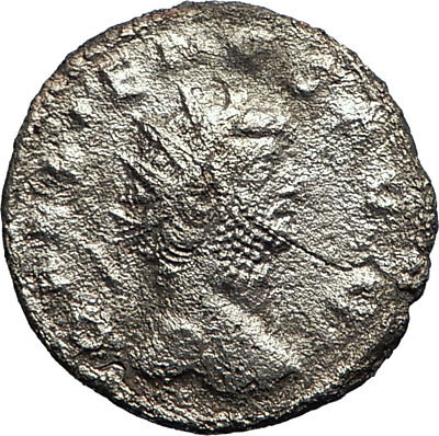 GALLIENUS 253AD Silver Autentic Genuine Ancient Roman Coin MARS War i74237