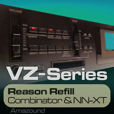 CASIO VZ1 VZ10 REASON REFILL 215 NNXT & COMB 2320 SAMPLES 24bit MAC PC DOWNLOAD