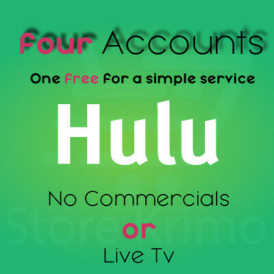 Hulu Premium 4x Account WARRANTY INSTANT DELIVERY 24/7 SUPPORT