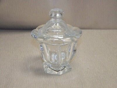 Baccarat French Crystal Harcourt Lidded 4 1/2 Inch Tall Sugar Bowl With No Spoon