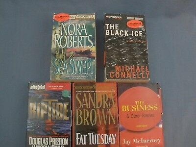 audio book lot on cassette fiction and mystery