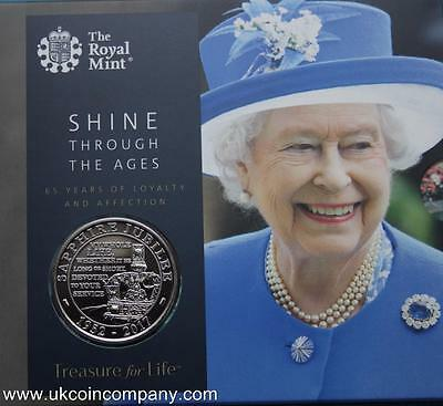 2017 Queens Sapphire Jubilee Brilliant Uncirculated Royal Mint £5 Coin Pack