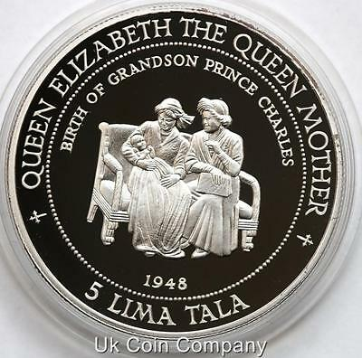 Tokelau 1995 Silver Proof 5 Lima Tala Crown Coin Coa