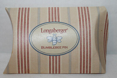New Longaberger Pewter Bumblebee Lapel Pin Or Pin To Fabric,  With Box