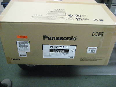 Panasonic DLP Projector, PT-RZ570BU, w/ Free Plate, Ceiling Adapter & Pipe