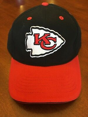25a1ab9f627 Kansas City Chiefs Cap KC Hat Embroidered Home Adjustable Curved Black Red