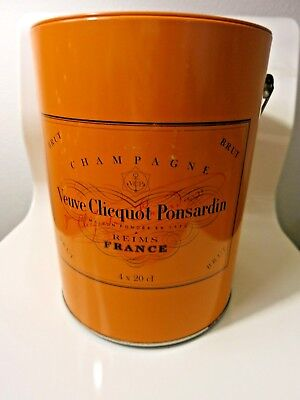 Veuve Clicquot Ponsardin Brut Champagne Orange Bucket Paint Pot Traveller Tin