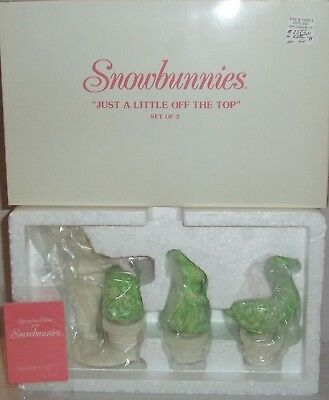 "Dept 56 Snowbunnies   - ""Just A Little Off The Top""   #56.26278 NIB"