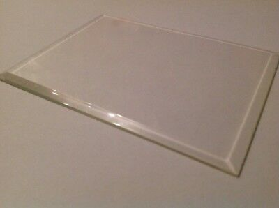 Bevelled Carriage Clock Glass Bevelled Rectangle  128mm 96mm